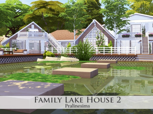 Sims 4 Family Lake House 2 by Pralinesims at TSR