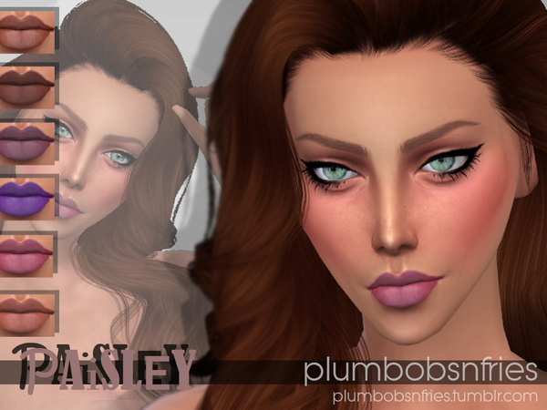 Sims 4 PnF Paisley lipstick by Plumbobs n Fries at TSR
