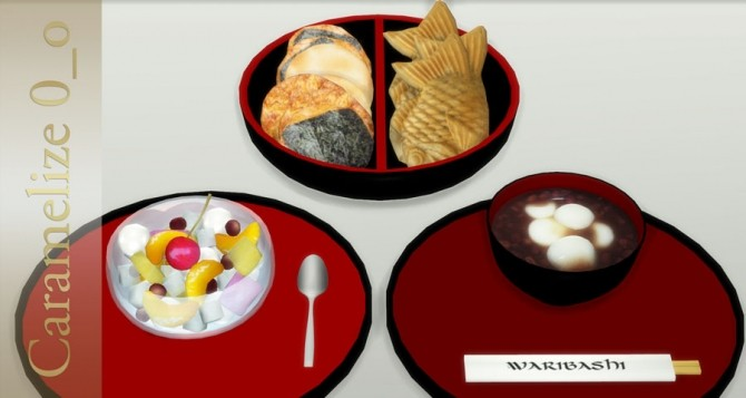 Sims 4 Snack Time clutter at Caramelize