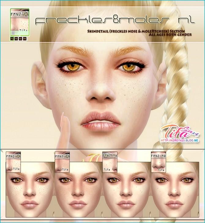 Freckles ans moles set N2 at Tifa Sims image 1144 670x729 Sims 4 Updates