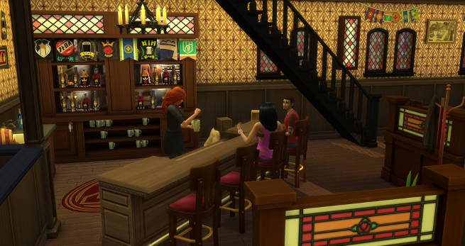 Sims 4 Old Town Pub by SimsAtelier at Blacky's Sims Zoo