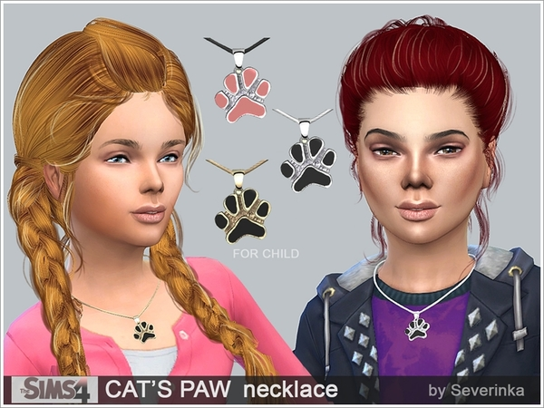 Sims 4 CATS PAW necklace by Severinka at TSR