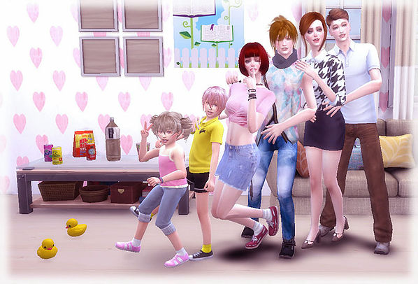 Sims 4 Family Pose 02 at A luckyday