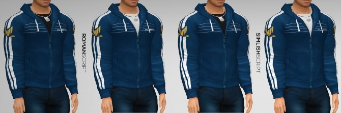 Sims 4 Spectre Alenko Hoodie by Xld Sims at SimsWorkshop