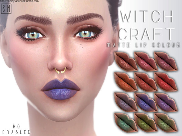 Sims 4 Witch Craft Matte Lip Colour by Screaming Mustard at TSR
