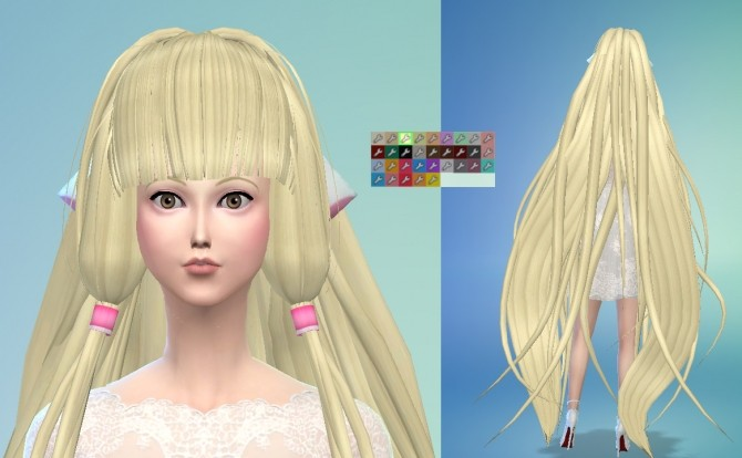 Sims 4 Chii from Chobits Hair Maxis Match by Wiccan at Mod The Sims