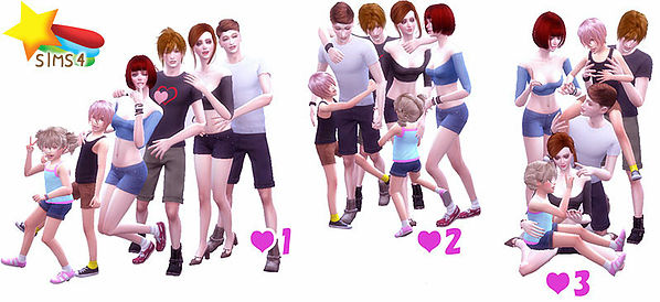 Family Pose 02 at A luckyday image 1195 Sims 4 Updates