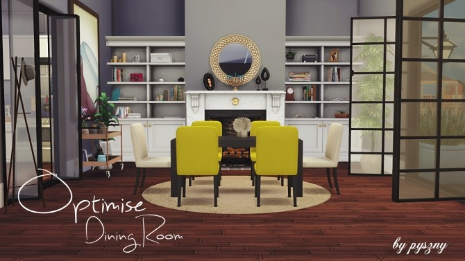 Optimise dining room at pyszny design sims 4 updates for Sims 3 dining room ideas