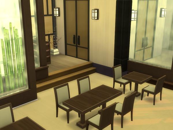 Japanese Restaurant 30x20 by hiyohiyo at TSR image 1224 Sims 4 Updates