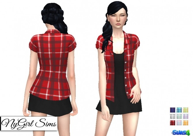 Flannel Tee with Black Dress at NyGirl Sims image 1248 670x473 Sims 4 Updates