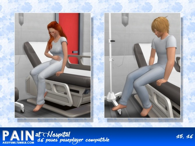 PAIN HOSPITAL 16 POSES by Akuiyumi at SimsWorkshop image 1255 670x503 Sims 4 Updates