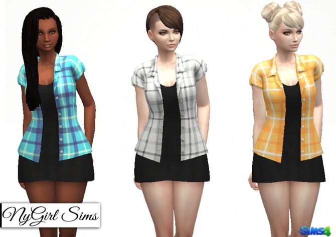 Flannel Tee with Black Dress at NyGirl Sims image 1259 670x473 Sims 4 Updates