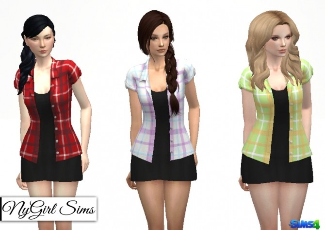Flannel Tee with Black Dress at NyGirl Sims image 1269 670x473 Sims 4 Updates