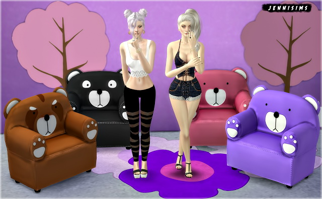 Sims 4 Chairs for Kids (Rabbit, Soccer, Car, Teddy) at Jenni Sims