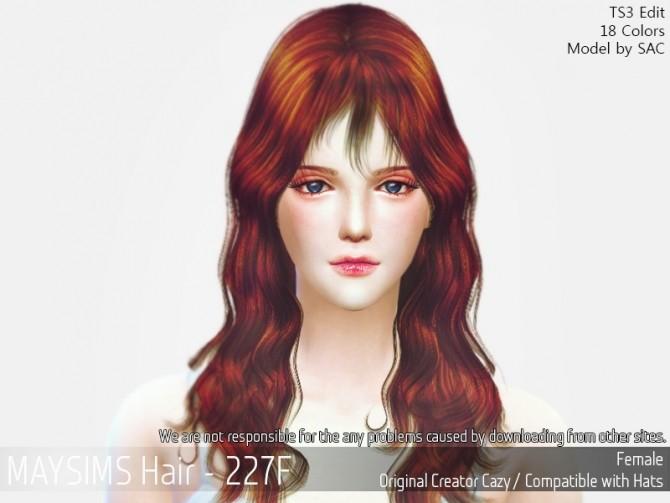 Sims 4 Hair 227F (Cazy) at May Sims