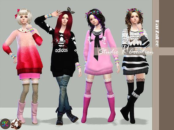 Sims 4 Giruto 12 Long Sweater at Studio K Creation