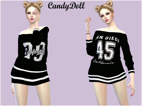 Sims 4 Cutie Sporty Tees by CandyDoll at TSR