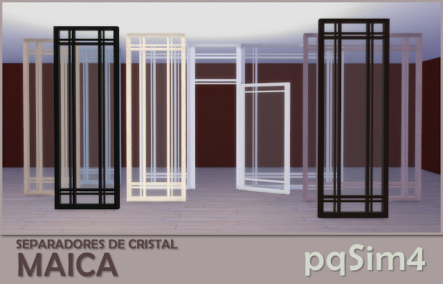 Sims 4 Maica crystal dividers by Mary Jiménez at pqSims4