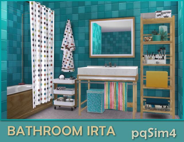 Sims 4 Irta bathroom by Mary Jiménez at pqSims4
