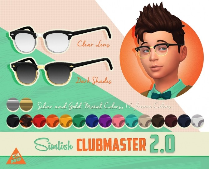 Simlish Clubmaster Ver. 2.0 at Tamo image 1394 670x543 Sims 4 Updates
