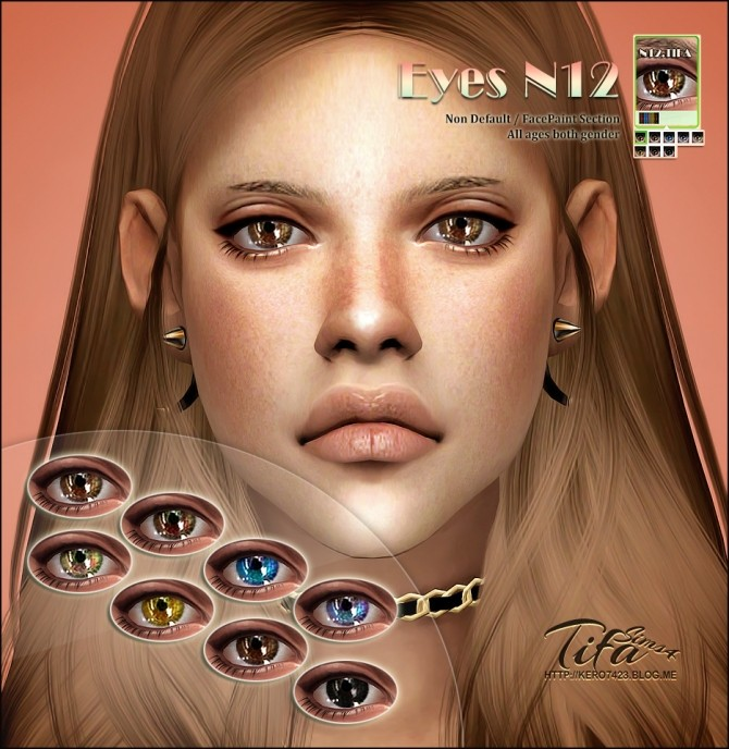 Sims 4 Eyes N12 ND at Tifa Sims