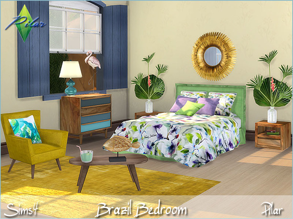 Brazil bedroom by Pilar at TSR image 14 Sims 4 Updates