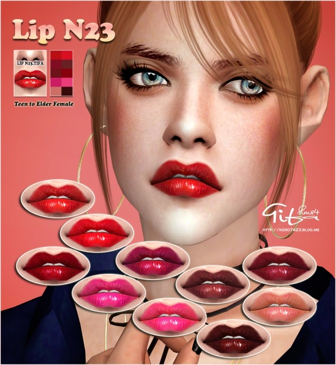 Sims 4 Lips N23 AF at Tifa Sims