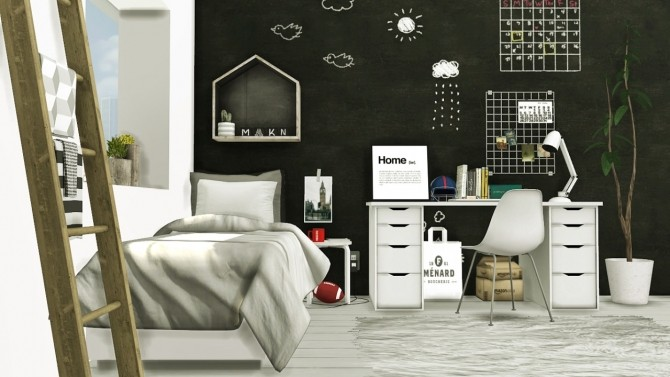 Scandinavian Style Boys Room At Mxims 187 Sims 4 Updates