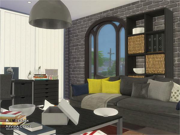 Sims 4 Arvika Office by ArtVitalex at TSR