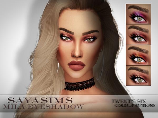 Sims 4 Mila Eyeshadow by SayaSims at TSR