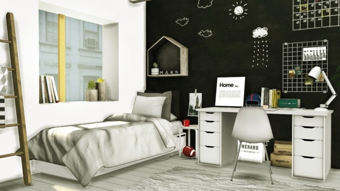 Sims 4 Scandinavian Style Boys Room at MXIMS