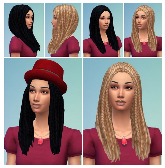 Sims 4 City Braids for Both at Birksches Sims Blog
