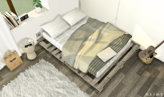 Pallet Floor Bed At Mxims Sims 4 Updates