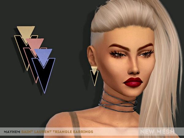 SL Triangle Earrings by mayhem sims at TSR image 1439 Sims 4 Updates