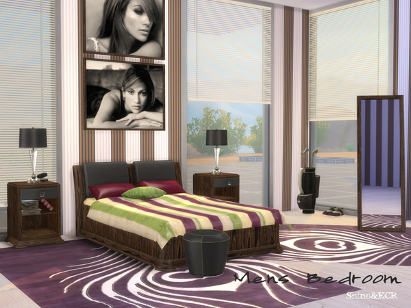 Sims 4 Bedroom for Men by ShinoKCR at TSR