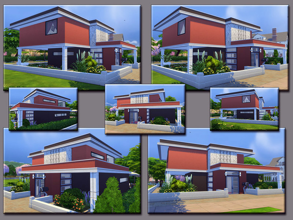 Sims 4 MB Burgundy Road house by matomibotaki at TSR
