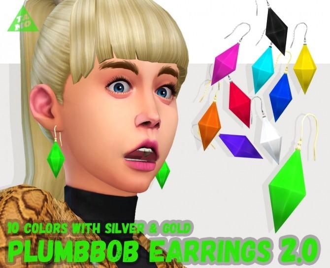 PlumbBob Earrings Ver.2.0 at Tamo image 1465 670x543 Sims 4 Updates