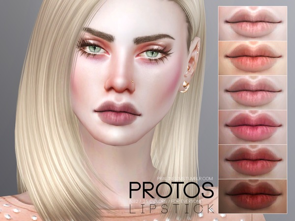 Sims 4 Protos Lipstick N82 by Pralinesims at TSR