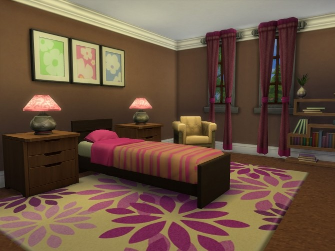 Sims 4 Hickory Lane home by Sharon337 at SimsWorkshop