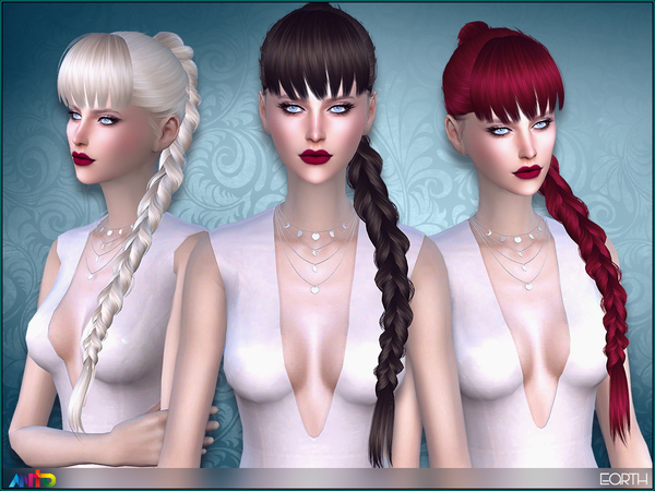 Sims 4 Earth hair by Anto at TSR