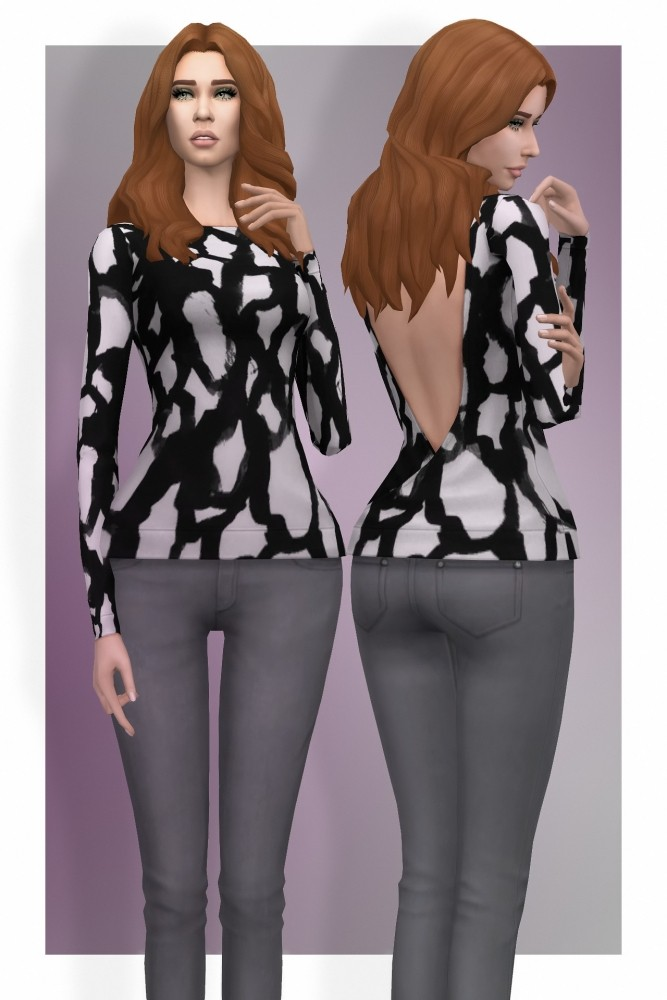 Sims 4 Sweater Backless at Busted Pixels