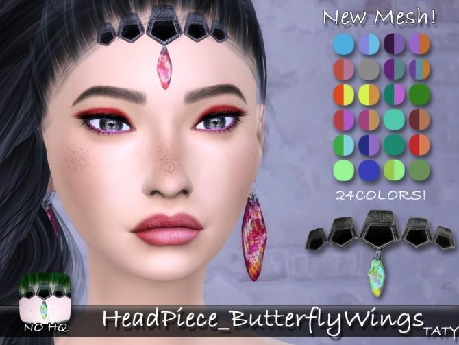 Sims 4 Butterflywings earrings + headpiece at Taty – Eámanë Palantír