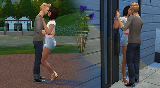 Sims 4 Kiss me if you can ! poses at 3lodiie
