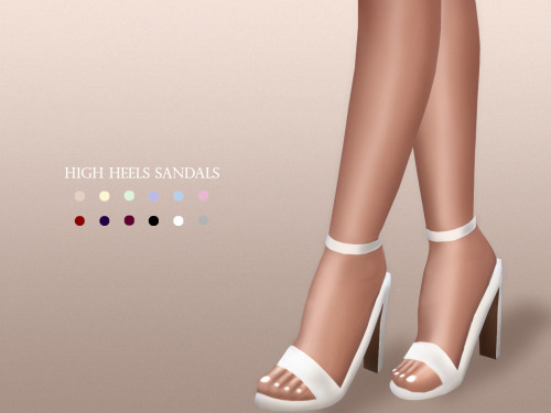 High Heels Sandals At Mariamaria 187 Sims 4 Updates