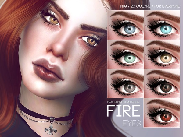 Sims 4 Fire Eyes N99 by Pralinesims at TSR