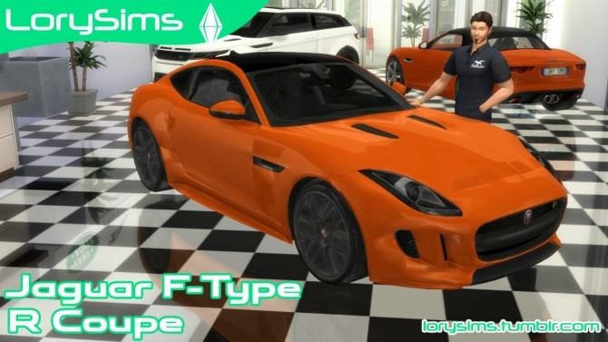 Sims 4 Jaguar F Type R Coupe at LorySims