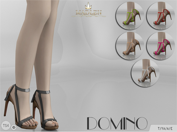 Madlen Domino Shoes by MJ95 at TSR image 1717 Sims 4 Updates