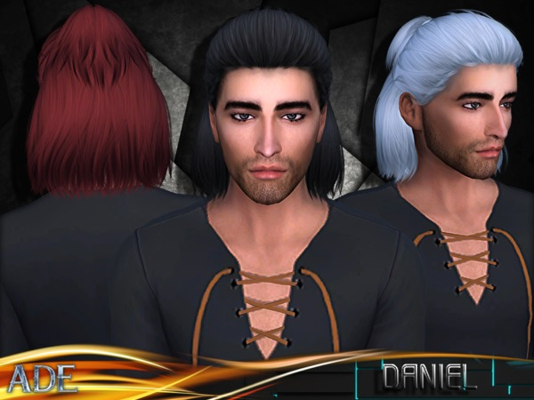 Sims 4 Daniel hair by Ade Darma at TSR