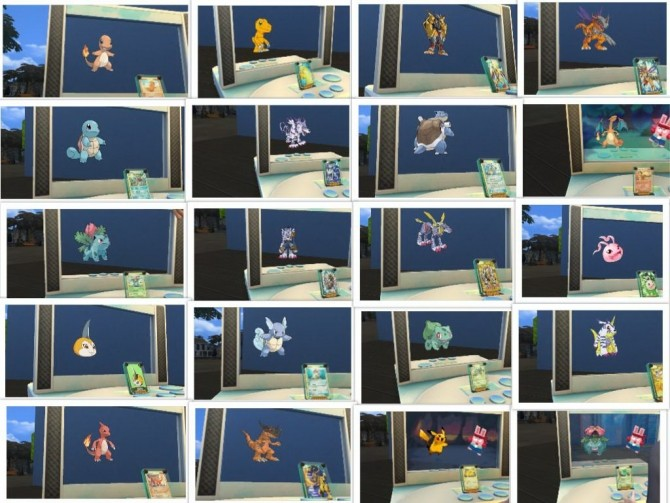 Sims 4 Pokémon/digimon cards Mod by G1G2 at SimsWorkshop