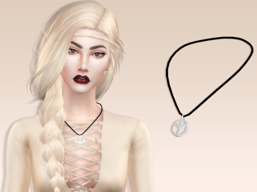 Sims 4 Pacifist Necklace at MariaMaria
